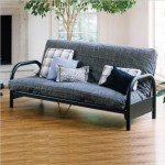 Elite Products Mission Full Size Metal Futon Frame In