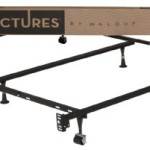 STRUCTURES by Malouf Heavy Duty 6-Leg LINENSPA Adjustable Metal Bed Frame with Double Center Support and Rug Rollers – UNIVERSAL (Cal King King Queen Full XL Full Twin XL Twin)