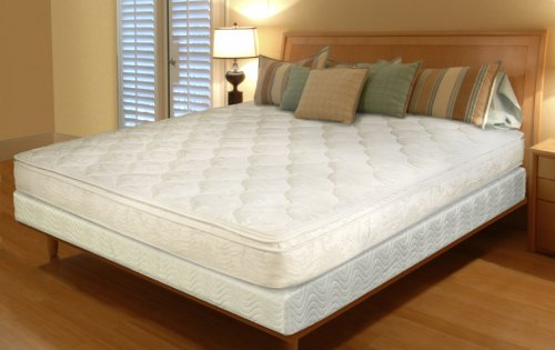 Textrade King Inner Spring Pillow Top Mattress in a Box