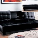 Acme Monticello Adjustable Sofa Set, Black Polyurethane Finish