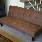 Chocolate Brown Microfiber with Adjustable Back Klik Klak Sofa Futon Bed Sleeper