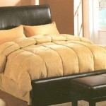 Dark Brown Faux Leather Queen Size Bed Headboard