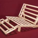 Tri-fold Hardwood Futon Frame – Full Size