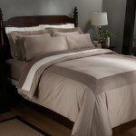 Pinzon Pleated Hem 400-Thread-Count 100% Egyptian Cotton King Duvet Set, Mocha