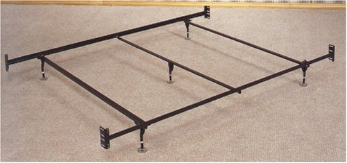 Coaster Bed Frame, Rail for Headboard and Footboard with 5-Legs and Glides, Queen