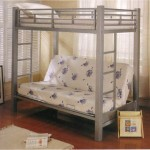 Coaster Futon Metal Bunk Bed in Silver Finish, Twin