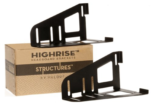 Structures by Malouf HIGHRISE Headboard/Footboard Bracket Set of 2