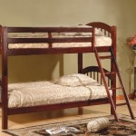 King's Brand B125C Wood Arched Design Convertible Bunk Bed, Twin, Cherry Finish