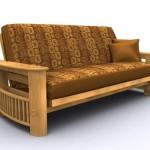 American Furniture Alliance Portofino Metal/Wood Frame Full, Golden Oak