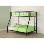 Walker Edison Twin-Over-Full Bunk Bed, Black