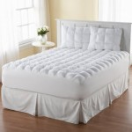 Magic Loft Queen Size 200 Thread-Count Down Alternative Mattress Pad, White