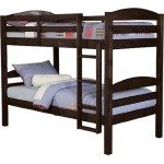 WE Furniture Twin / Twin Solid Wood Bunk Bed – Espresso