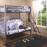 Twin / Full Silver Finish Metal Convertible Futon Bunk Bed
