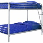 Dorel Home Products Twin-Over-Twin Bunk Bed, Silver