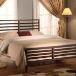 Bronze Metal Queen Size Bed Headboard Footboard Rails & Platform