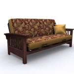 American Furniture Alliance Bridgeport Metal/Wood Frame Full, Walnut