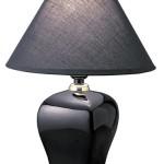 ORE International 608BK 15 Ceramic Accent Table Lamp, Black