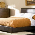 Queen Size Bed in Brown Bycast Leather