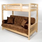 The Ultimate Space Saver: Solid Wood, American-made and Sleeps 3! — Full Futon Bunk Bed – Complete w/ Two 9″ Futon Mattresses – Eco-friendly