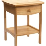 Winsome Wood End Table/Night Stand with Drawer and Shelf, Natural
