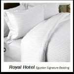 Royal Hotel's Stripe White 1200-Thread-Count 3pc King Duvet-Cover 100-Percent Egyptian Cotton, Sateen Stripe, 1200 TC