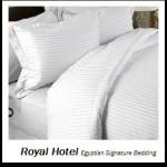 Royal Hotel's Stripe White 1200-Thread-Count 3pc King Duvet-Cover 100-Percent Egyptian Cotton, Sateen Stripe, 1200 TC