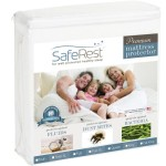Queen Size SafeRest Premium Hypoallergenic Waterproof Mattress Protector – Vinyl Free
