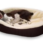 XL- Extra Large Brown Exterior with Imitation Lambswool Interior. Dog Bed King Pet Bed Cuddler. Outside Dim. 42x32x7″. Inside Dim. 38x28x7″. Made In The USA.