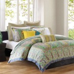 Echo Scarf Paisley Sateen Duvet Cover, Multi, Full/Queen