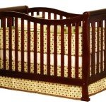 Athena Nadia 3 in 1 Crib with Toddler Rail, Cherry