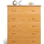 Prepac Oak 5-Drawer Chest