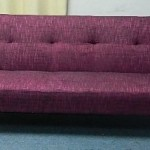 Plum Burgundy Red Full Sized with Arms Convertible Sofa High Quality High Density Futon Klik Klak