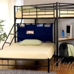 ACME 02030 Winona Twin/Full Bunk Bed with Study Desk, Black Finish