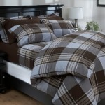 Pinzon 160-Gram Yarn-Dyed Flannel Full/Queen Duvet Cover, Hyde Park