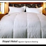 Royal Hotel's 1200-Thread-Count Queen Size White Siberian Goose Down Comforter 100 percent Egyptian-Cotton 1200 TC – 750FP – 50Oz – Striped White