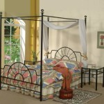 Black Metal Sunburst Canopy Bed Full Size (Bed) Frame