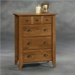 Sauder Shoal Creek 4-Drawer Chest in Oiled Oak