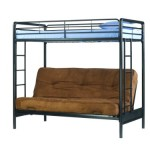 Dorel Home Products Twin-Over-Full Futon Bunk Bed, Black