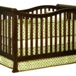 Athena Nadia 3 in 1 Crib with Toddler Rail, Espresso