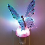 Butterfly Optic Fiber Color Changing Night Light Show – Purple