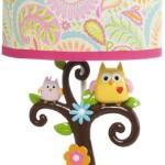 Kids Line Dena Happi Tree Lamp Base and Shade, Pink