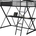 Dorel Home Products X-Loft Bunk Bed, Black