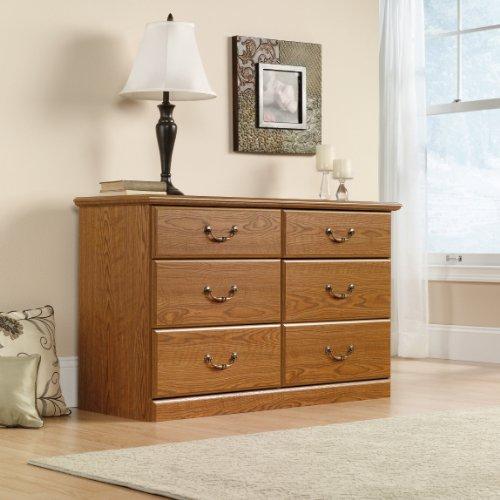 6 Drawer Dresser – Oak Finish
