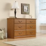 6 Drawer Dresser – Oak Finish
