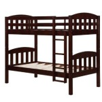 Dorel Asia Solid Wood Pine Bunk Bed, Espresso