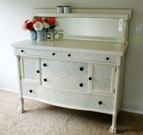 Antique Hand Painted Buffet / Sideboard / Dresser