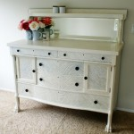 Antique Hand Painted Buffet / Sideboard / Dresser