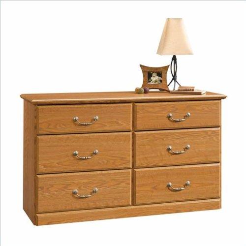 Orchard Hills 6 Drawer Dresser in Carolina Oak Finish