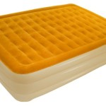 CSA SAB-202 AirCloud SuperbAir Collection Butterscotch/French Vanilla 19″ High Queen Size Air Bed with Built-In Pump