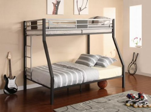 Dorel Home Products Screen Twin-Over-Full Bunk Bed, Silver